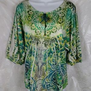 Style & Co Printed Embellished Top